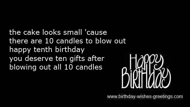 short birthday poems children
