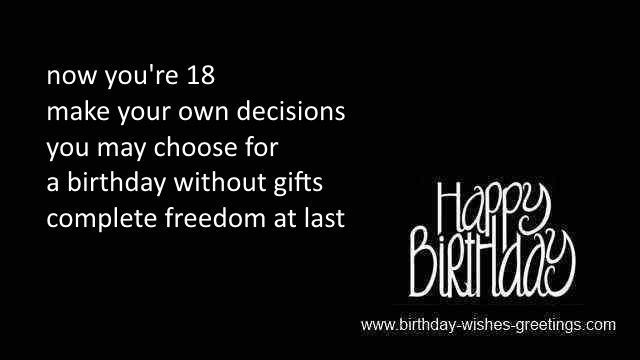 26 Poetic 18th Birthday Quotes: 18th Birthday Greetings Best Friend 18 Year Old Bday Wishes