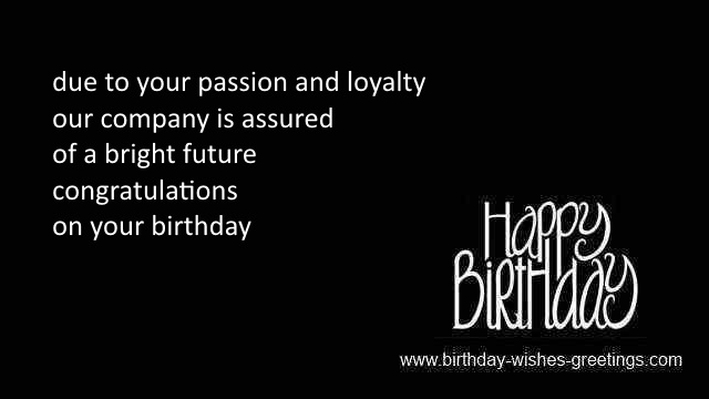 special birthday sayings from boss
