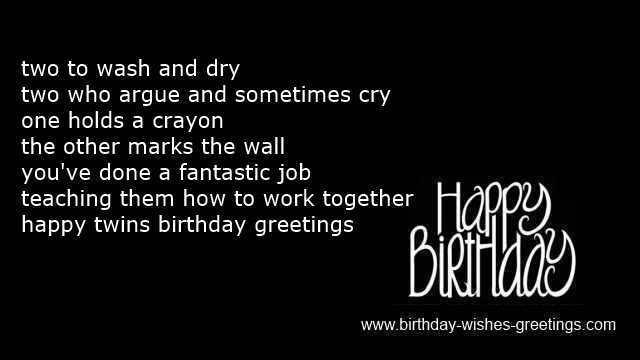 funny first twin birthday wishes