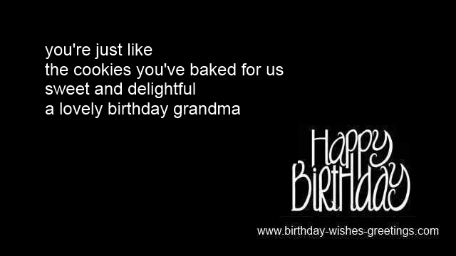 grandmother birthday messages