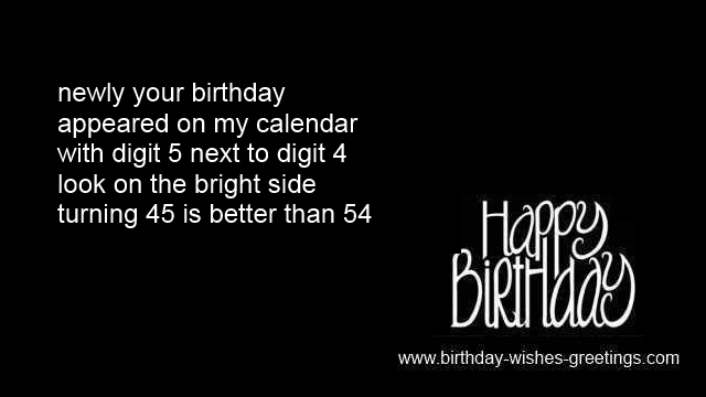45th birthday messages