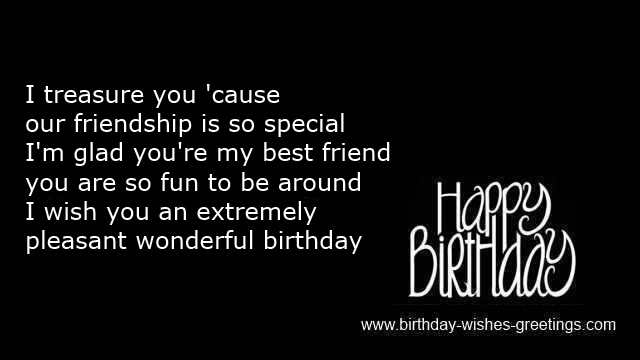 special birthday sayings close friend